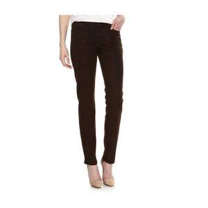 NYDJ Sheri Brown Ganache Snake Skinny Jeans 10 EUC